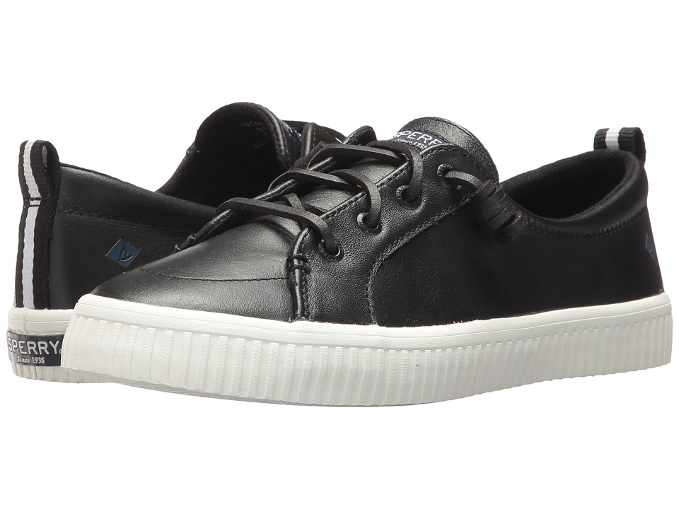 Sperry Crest Vibe Creeper Leather (Black Leather) Women