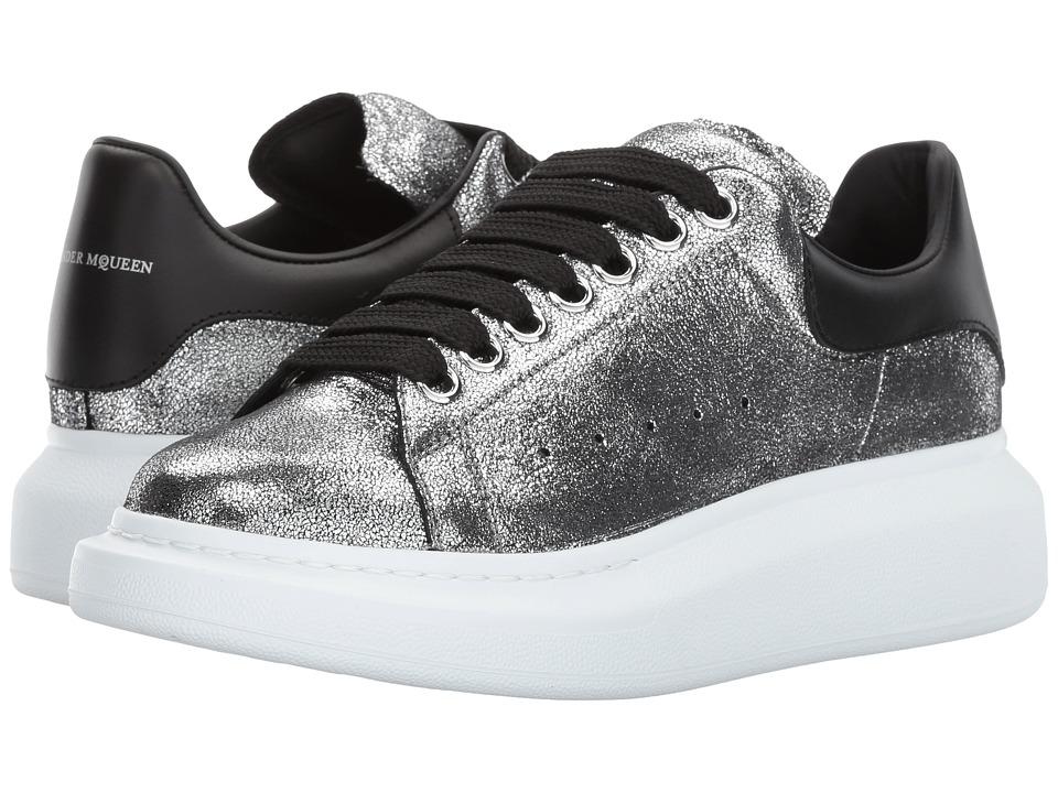 Alexander McQueen Sneaker Pelle S.Gomma (Silver/Black) Women