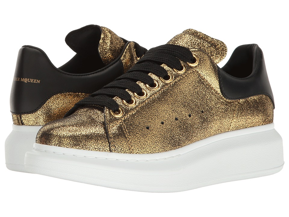 Alexander McQueen-Sneake Pelle S.Gomma  (Gold-Black) Womens Lace up casual Shoes
