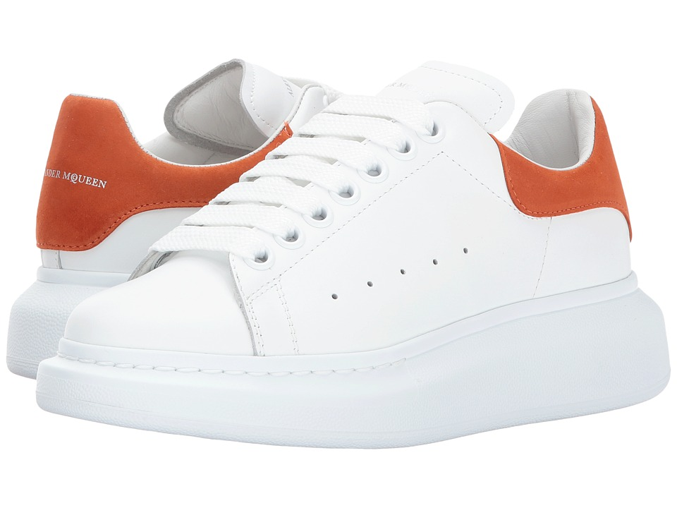 Alexander McQueen Lace-Up Sneaker (White/Ginger Tan) Women