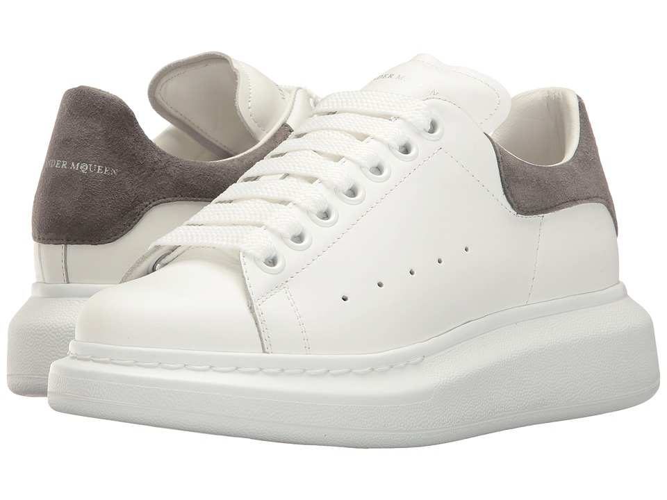 Alexander McQueen Lace-Up Sneaker (White/Silver Grey) Women