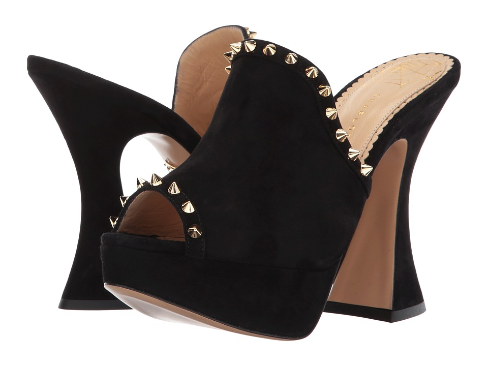 Charlotte Olympia Tudor (Black Suede) High Heels