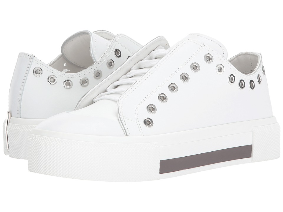 Alexander McQueen Low Cut Lace-Up Sneaker (White/White/White) Women