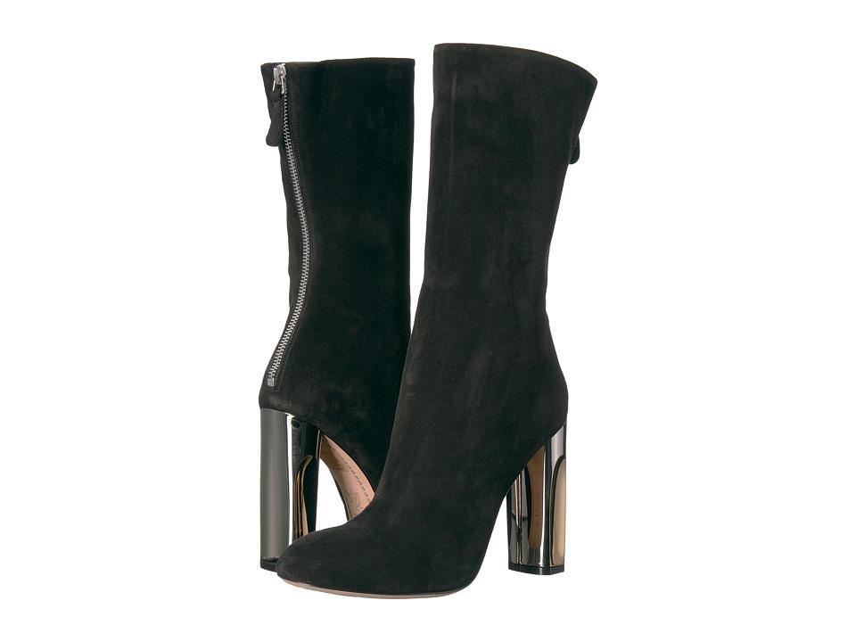 Alexander McQueen Sculpted Heel Fitted Bootie (Black) Women