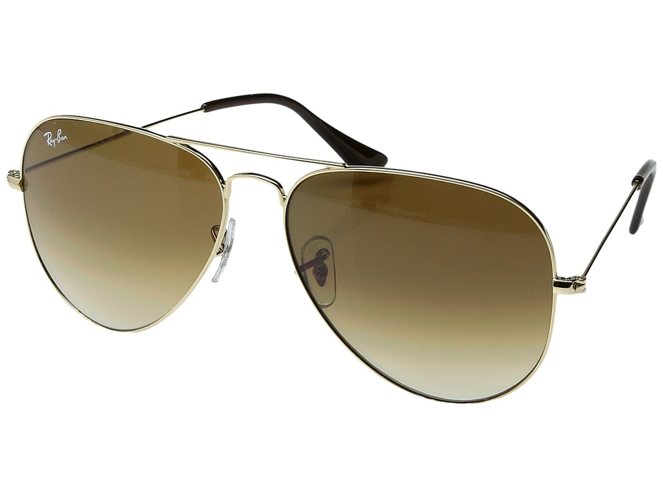 Ray-Ban - RB3025 Original Aviator 62mm (Gold/Crystal Brown Gradient) Metal Frame Fashion Sunglasses