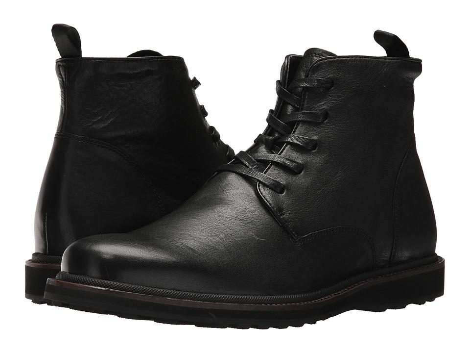 John Varvatos Brooklyn Lug Boot (Black) Men