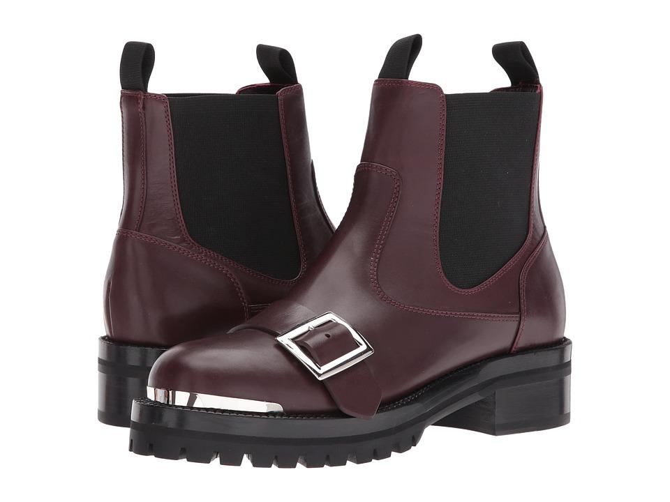 Alexander McQueenStiv.To Pelle S.Gomma  (Burgundy-Black) Womens Boots