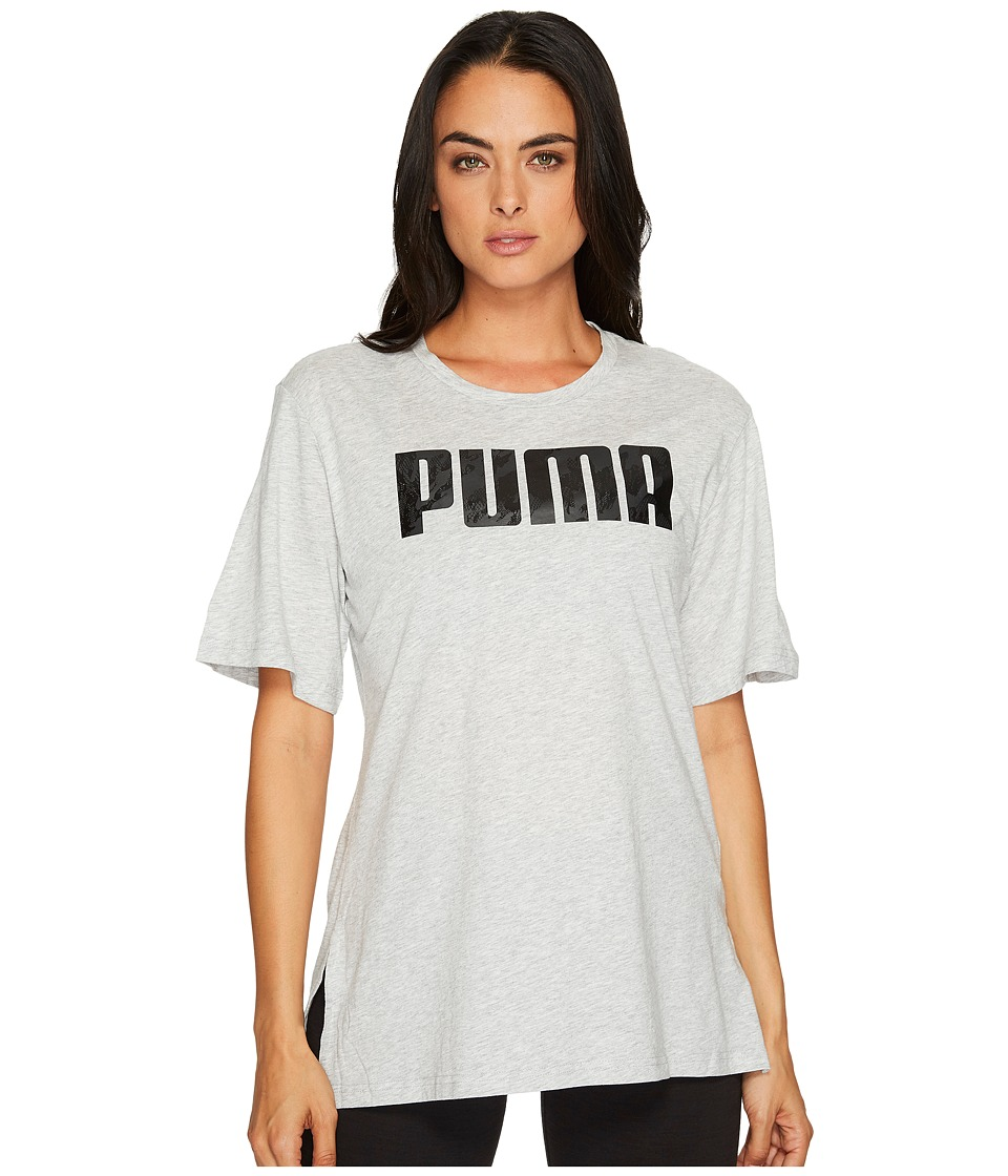 PUMA Rebel Boyfriend Tee (Light Grey Heather) Women