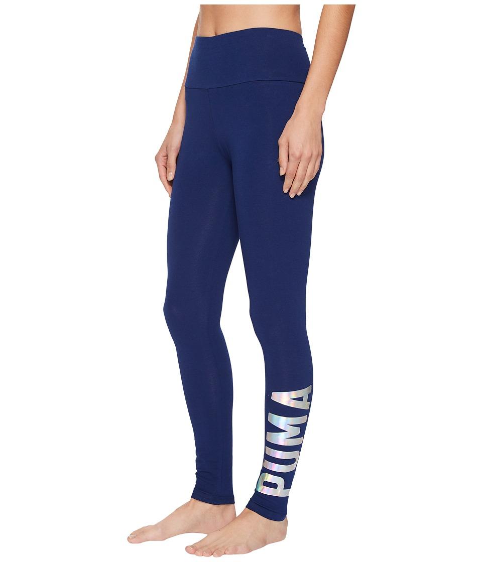 PUMA Athletic Leggings (Blue Depths Foil) Women