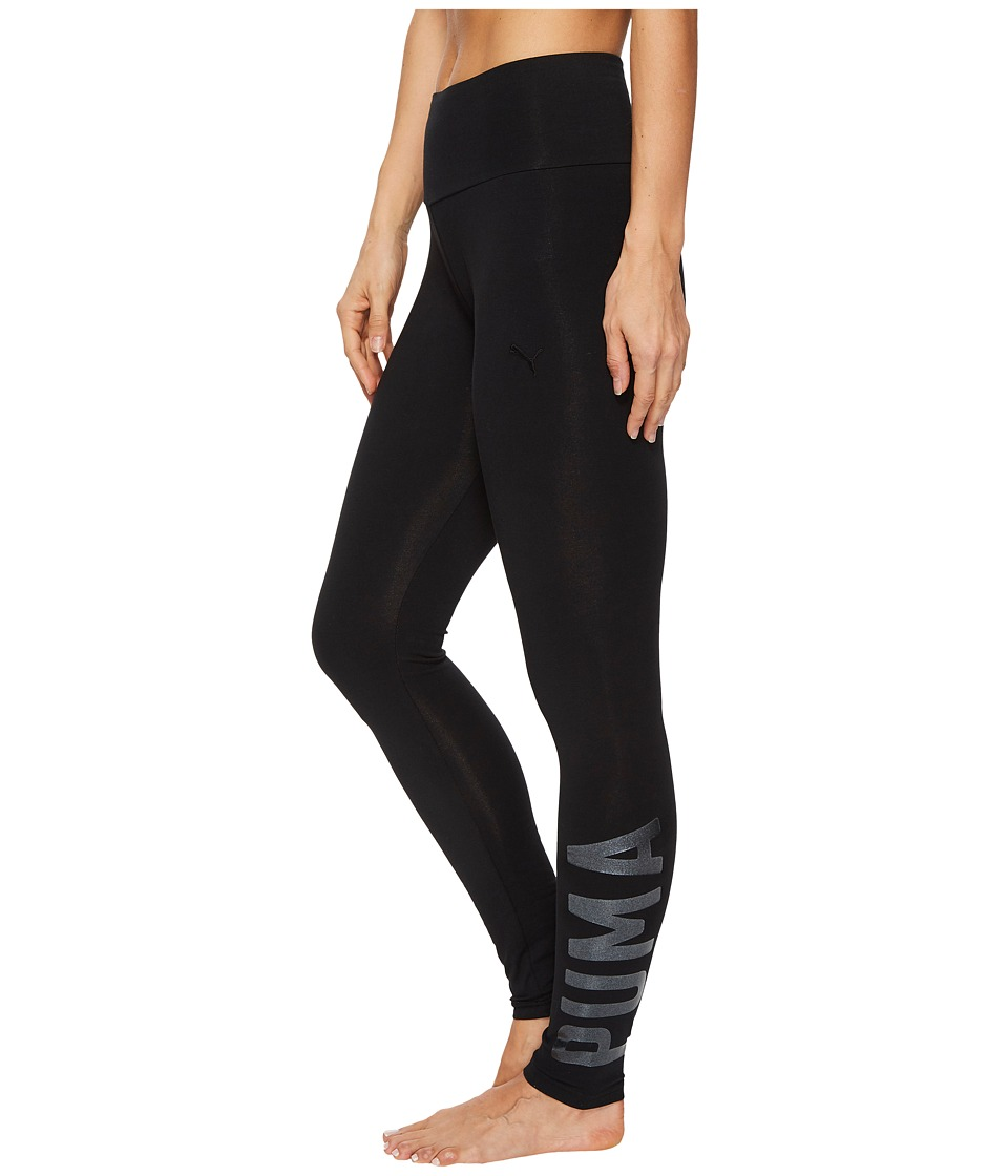 PUMA Athletic Leggings (Cotton Black Glitter) Women