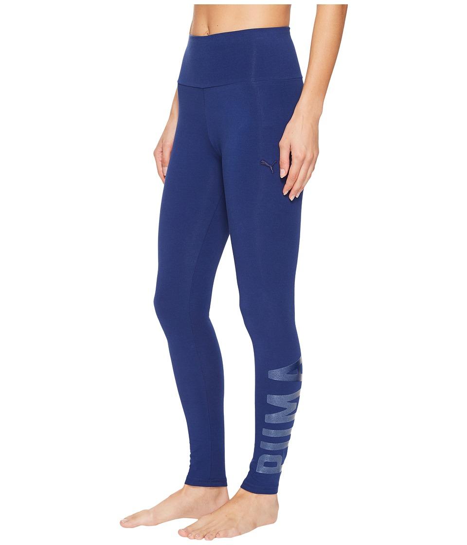 PUMA Athletic Leggings (Blue Depths Glitter) Women
