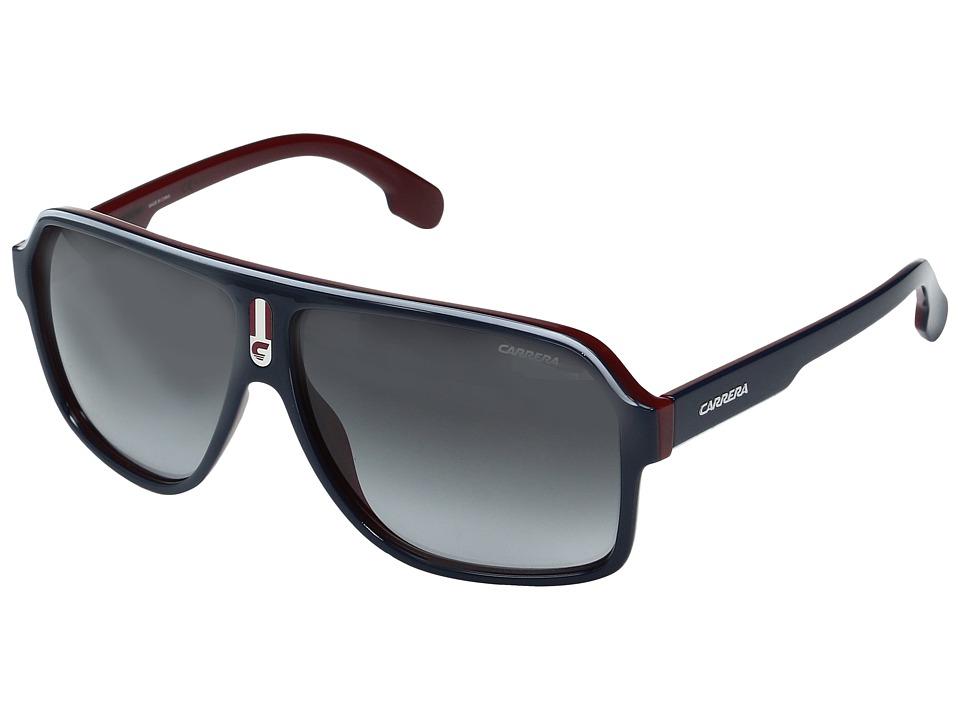 Carrera Carrera 1001/S (Blue/Gold with Dark Gray Gradient Lens) Fashion Sunglasses