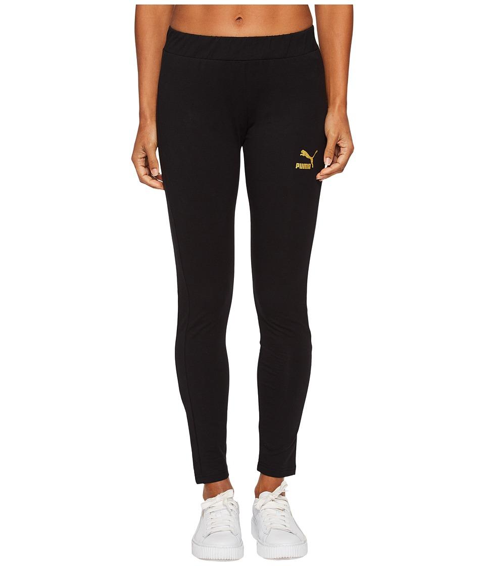 PUMA Glam Leggings (PUMA Black/Gold Glitter) Women