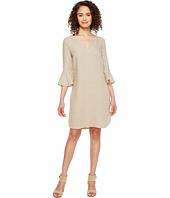Three Dots - Ruffle Sleeve Dress
