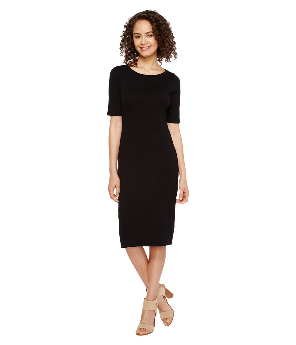 Three Dots Elbow Sleeve Dress (Black) Women