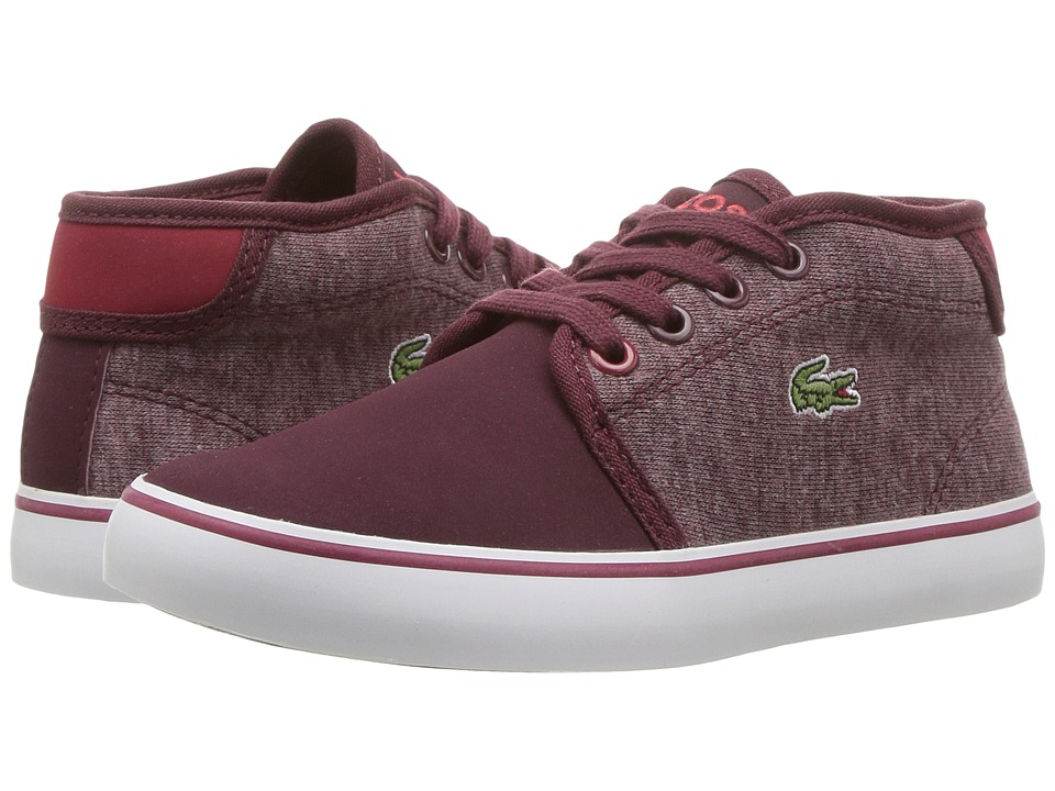 Lacoste Kids Ampthill 317 1 (Little Kid) (Burgundy) Boy's Shoes
