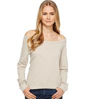 Three Dots - Off Shoulder Sweatshirt