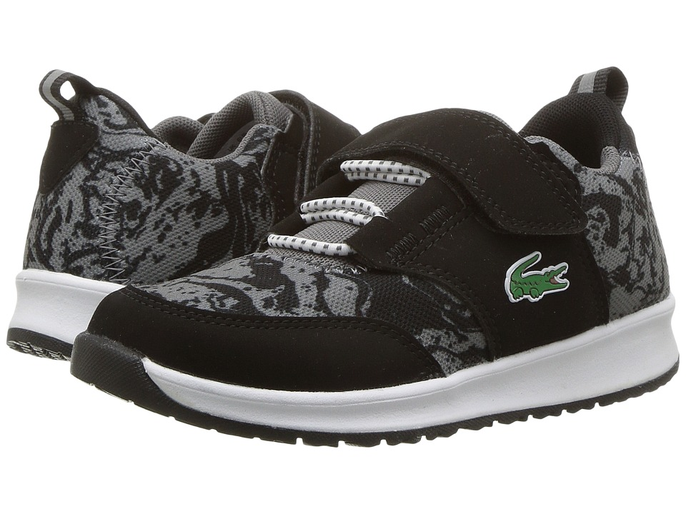 Lacoste Kids L.ight 317 1 (Little Kid) (Black/Dark Gray) Kid's Shoes