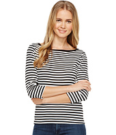 Three Dots - Mykonos Stripe 3/4 Sleeve British