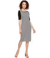 Three Dots - Mykonos Stripe Blocked Sheath