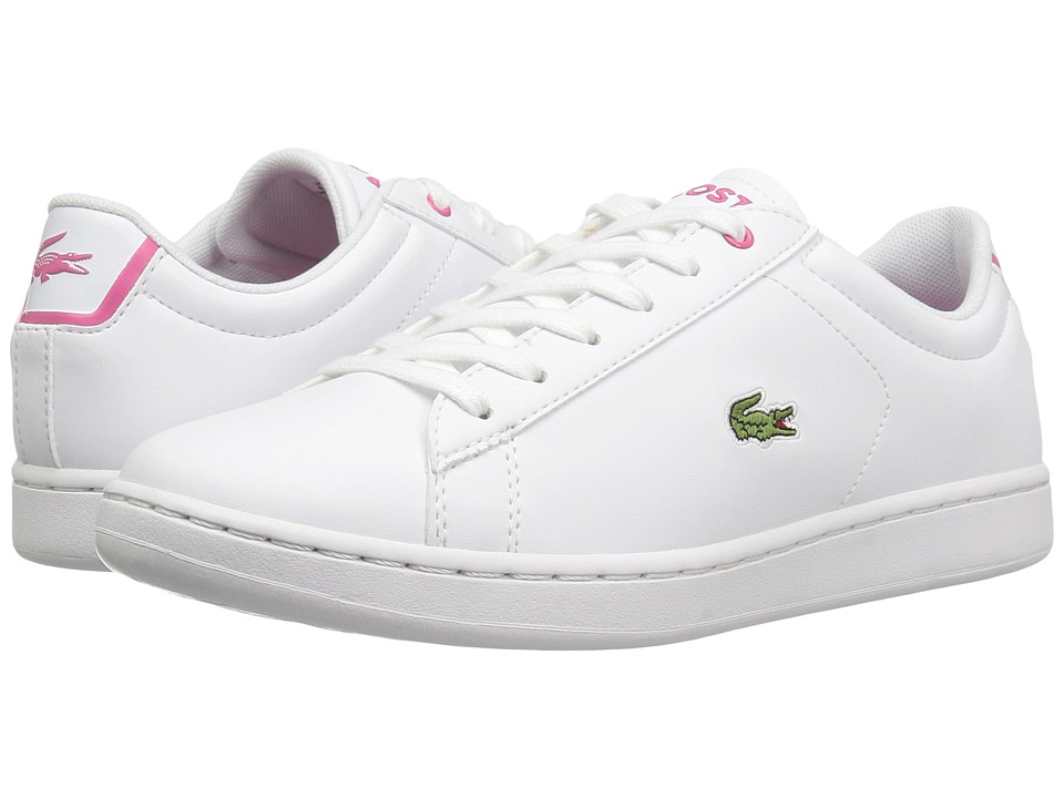 Lacoste Kids - Carnaby Evo BL 1 (Little Kid/Big Kid) (White/Pink) Girls Shoes
