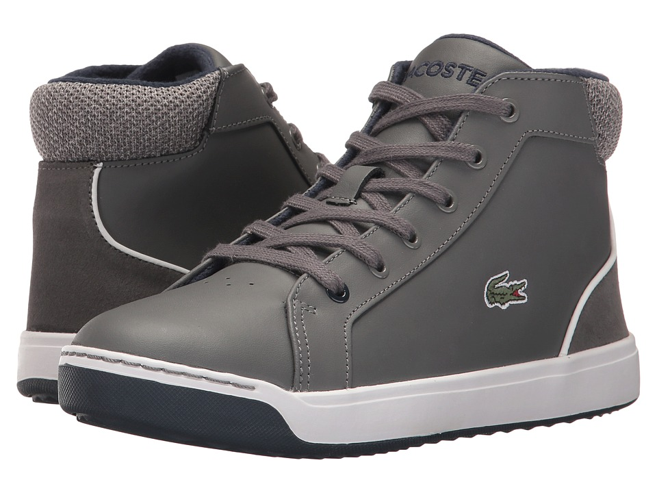 Lacoste Kids Explorateur Lace 317 1 (Little Kid/Big Kid) (Dark Gray) Boy's Shoes