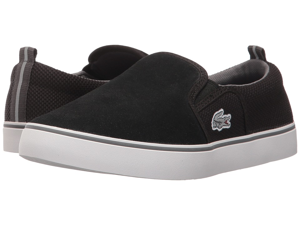 Lacoste Kids Gazon 317 1 (Little Kid/Big Kid) (Black/Dark Gray) Kid's Shoes