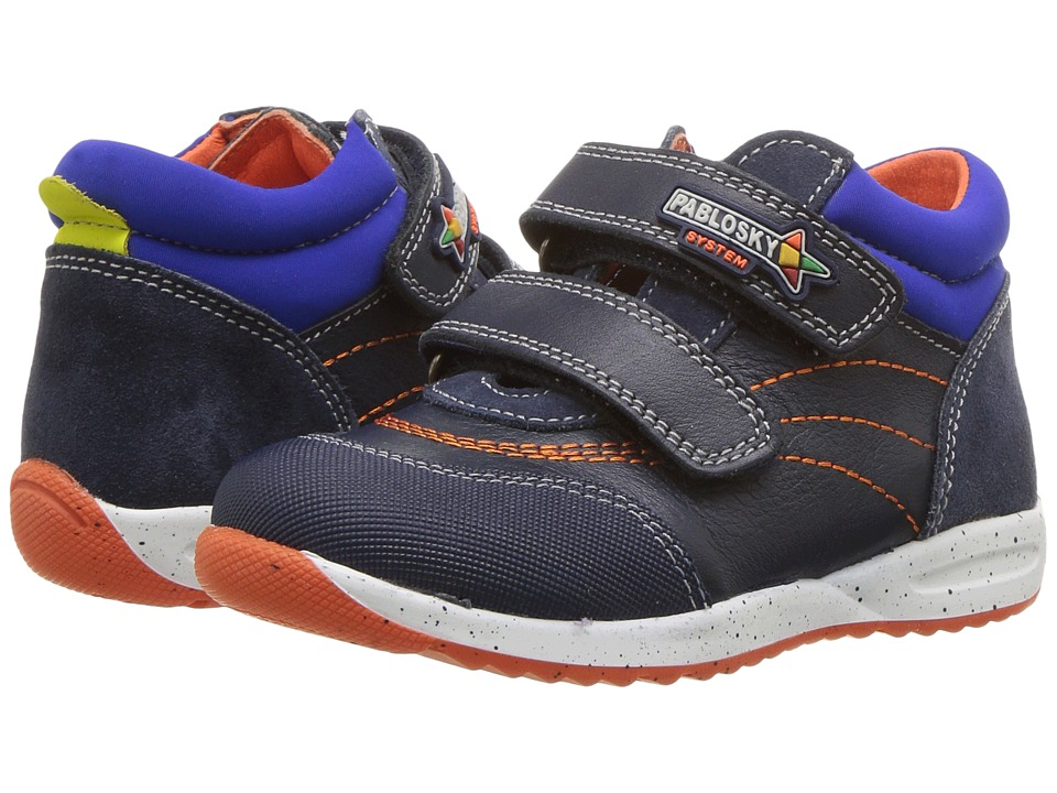 Pablosky Kids 0182 (Toddler/Little Kid) (Blue) Boy's Shoes