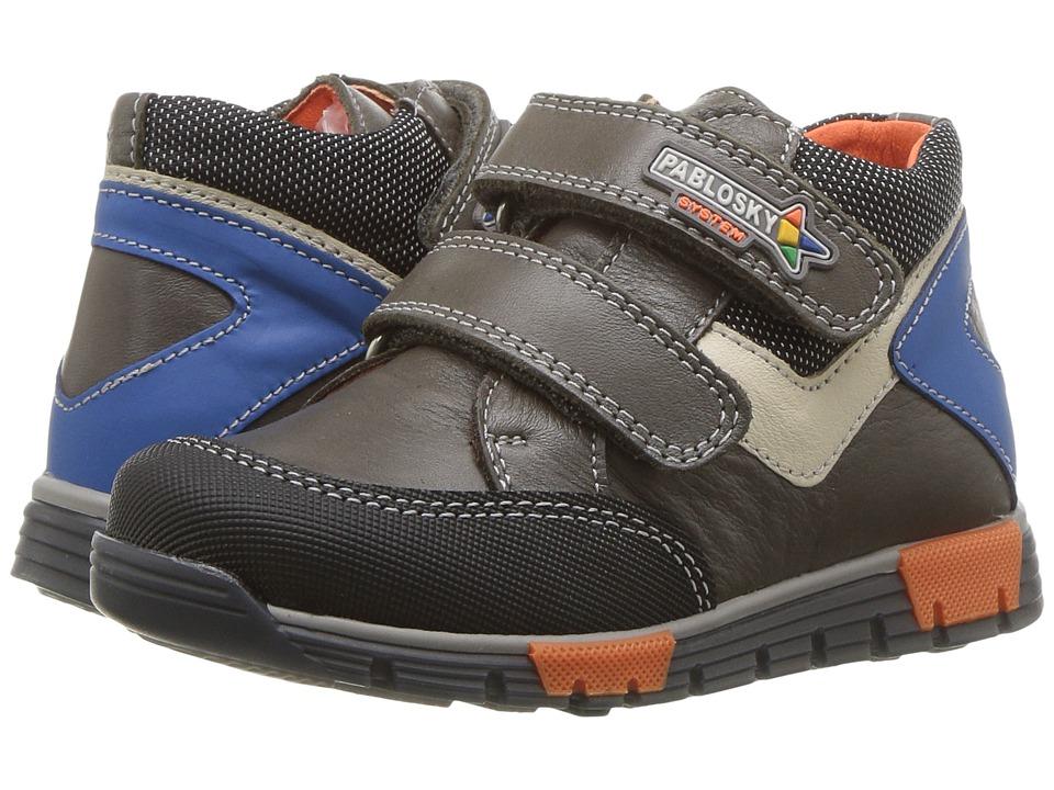 Pablosky Kids 0176 (Toddler/Little Kid) (Grey/Blue) Boy's Shoes