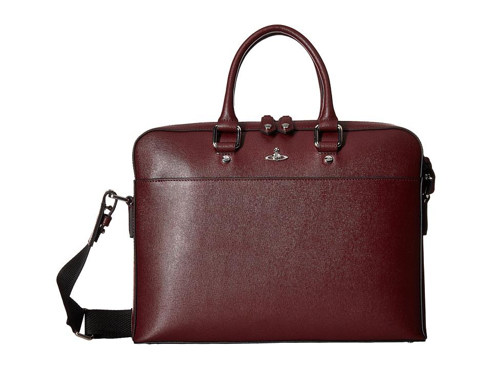 Vivienne Westwood Kent Briefcase (Bordeaux) Briefcase Bags