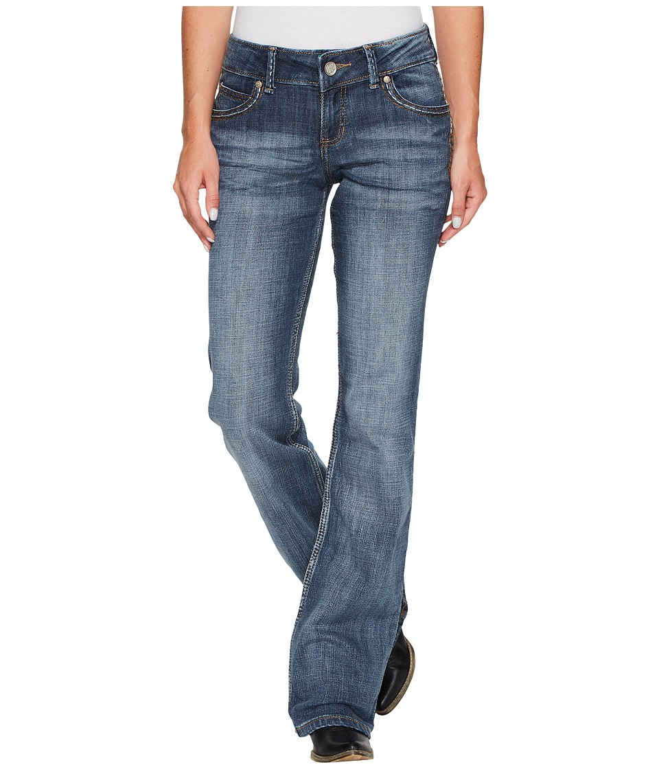 Wrangler - Retro Sadie Low Rise (Mid Wash) Women's Jeans
