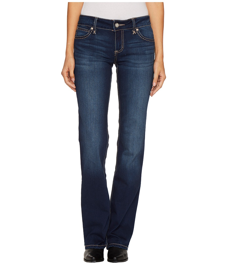 Wrangler - Retro Mae Wide Leg (Dark Wash) Womens Jeans