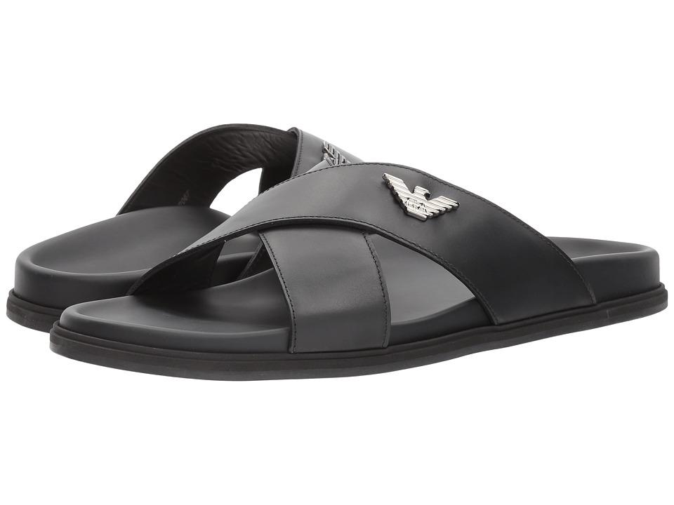 Emporio Armani Dubai Sandal (Black) Men