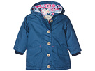 Navy Cotton Coated Raincoat (Toddler/Little Kids/Big Kids)