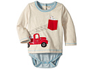 Hatley Kids Fire Truck Doggie Lift Long Sleeve Mini One-Piece (Infant)