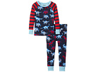 Hatley Kids Lots of Dinos Raglan PJ Set (Toddler/Little Kids/Big Kids)