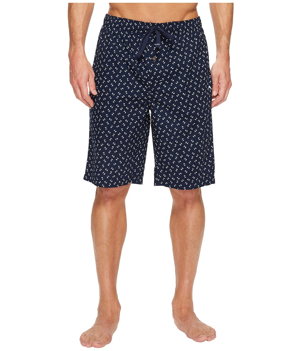 Tommy Bahama Printed Island Washed Cotton Woven Jam Shorts (Palm Trees) Men