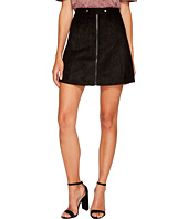Bishop + Young - Suede Zip-Up A-line Skirt
