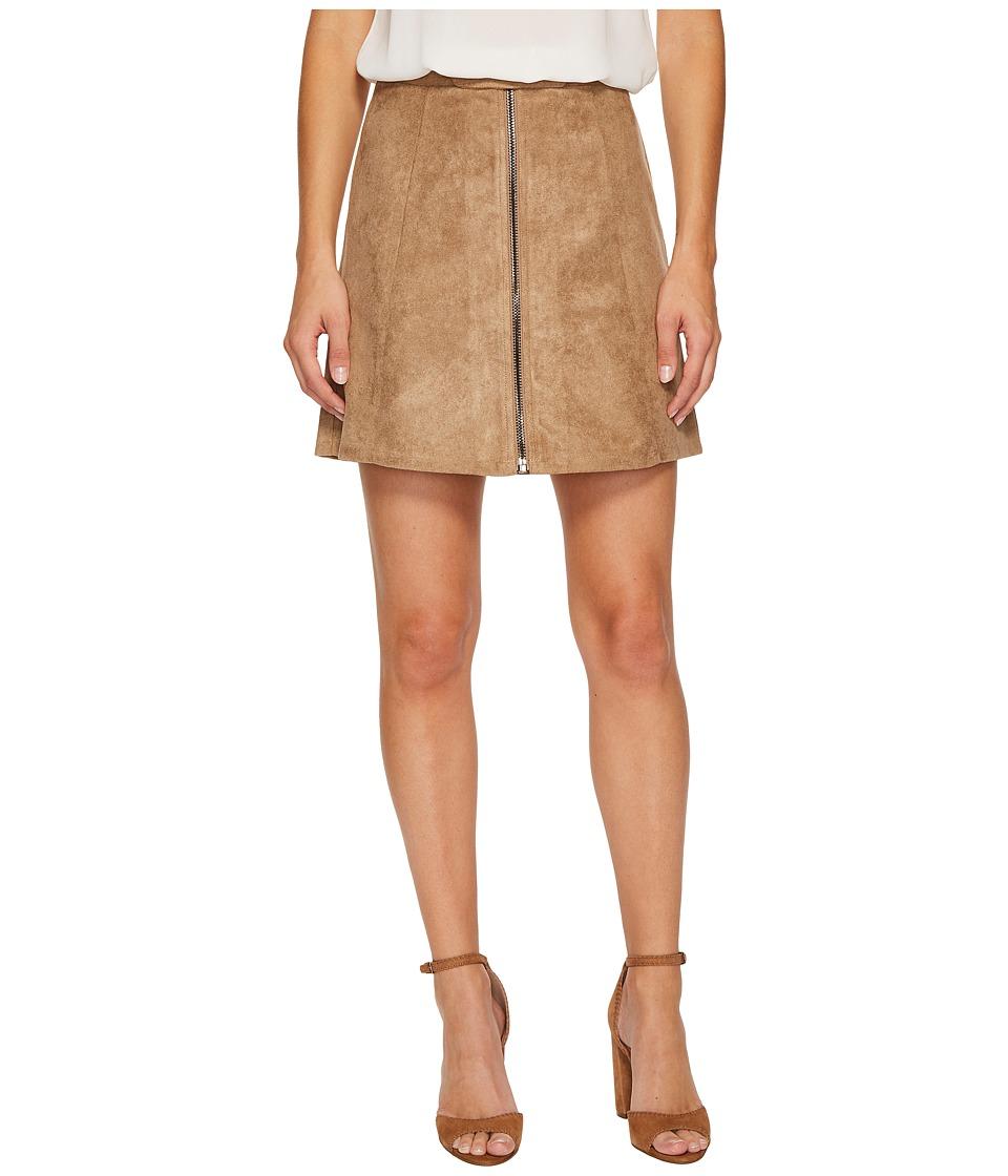 Bishop + Young - Suede Zip-Up A-line Skirt