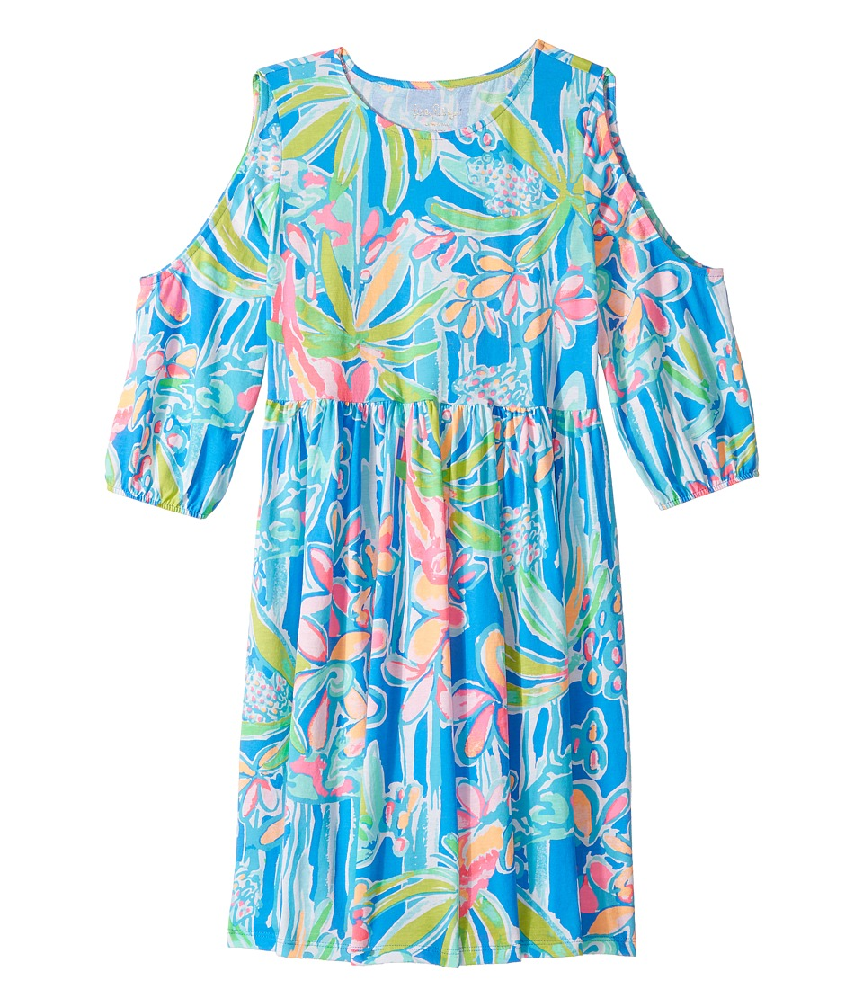 Lilly Pulitzer Kids Linn Dress (Toddler/Little Kids/Big Kids) (Lapis Blue Jungle Hoppin) Girl