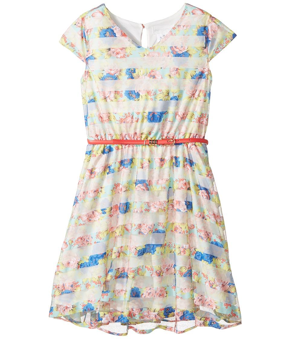 Us Angels - Flutter Sleeve V-Neck Dress with Full Skirt