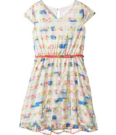 Us Angels - Flutter Sleeve V-Neck Dress with Full Skirt (Big Kids)