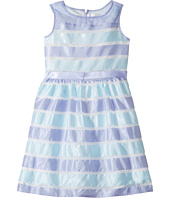 Us Angels - Sleeveless Illusion Dress with Shirred Waist & Full Skirt (Big Kids)