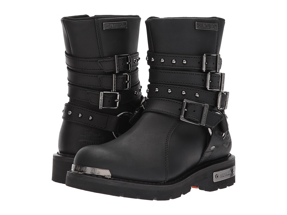 Harley-Davidson - Eddington (Black) Womens Pull-on Boots