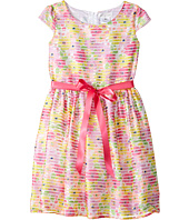 Us Angels - Cap Sleeve Shadow Striped Organza Dress (Big Kids)