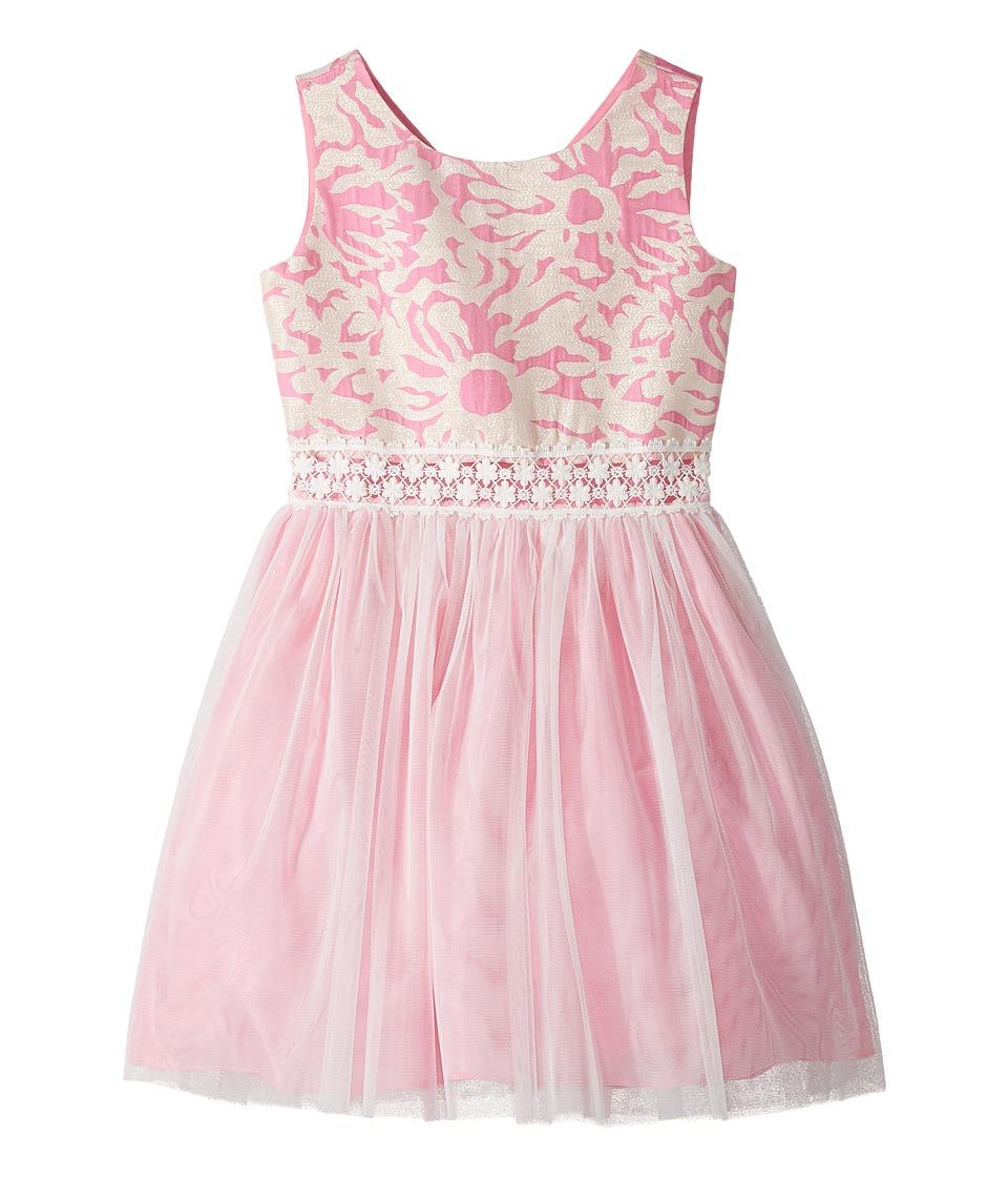 Us Angels - Sleeveless Brocade with Netting Dress
