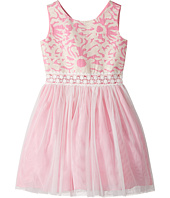 Us Angels - Sleeveless Brocade with Netting Dress (Big Kids)