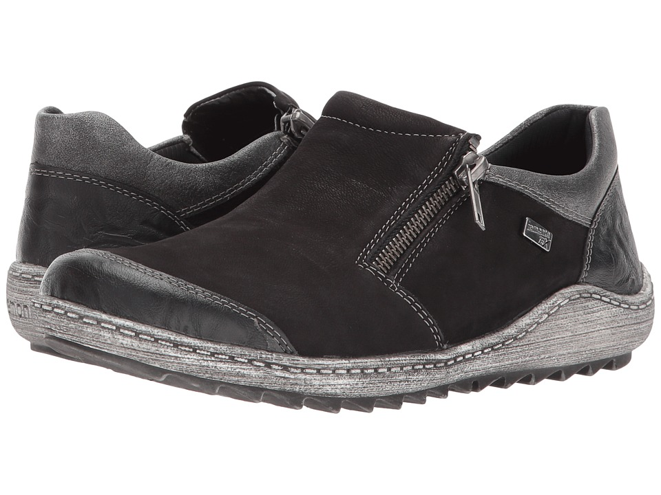 Rieker - R1403 Liv 03 (Black/Black/Altsilber) Womens Slip on  Shoes