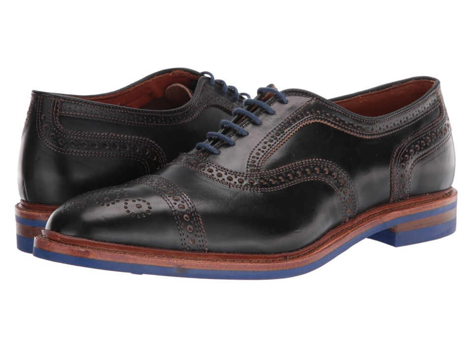 Allen Edmonds - Strandmok (Black Chromexcel Leather) Mens Lace Up Cap Toe Shoes