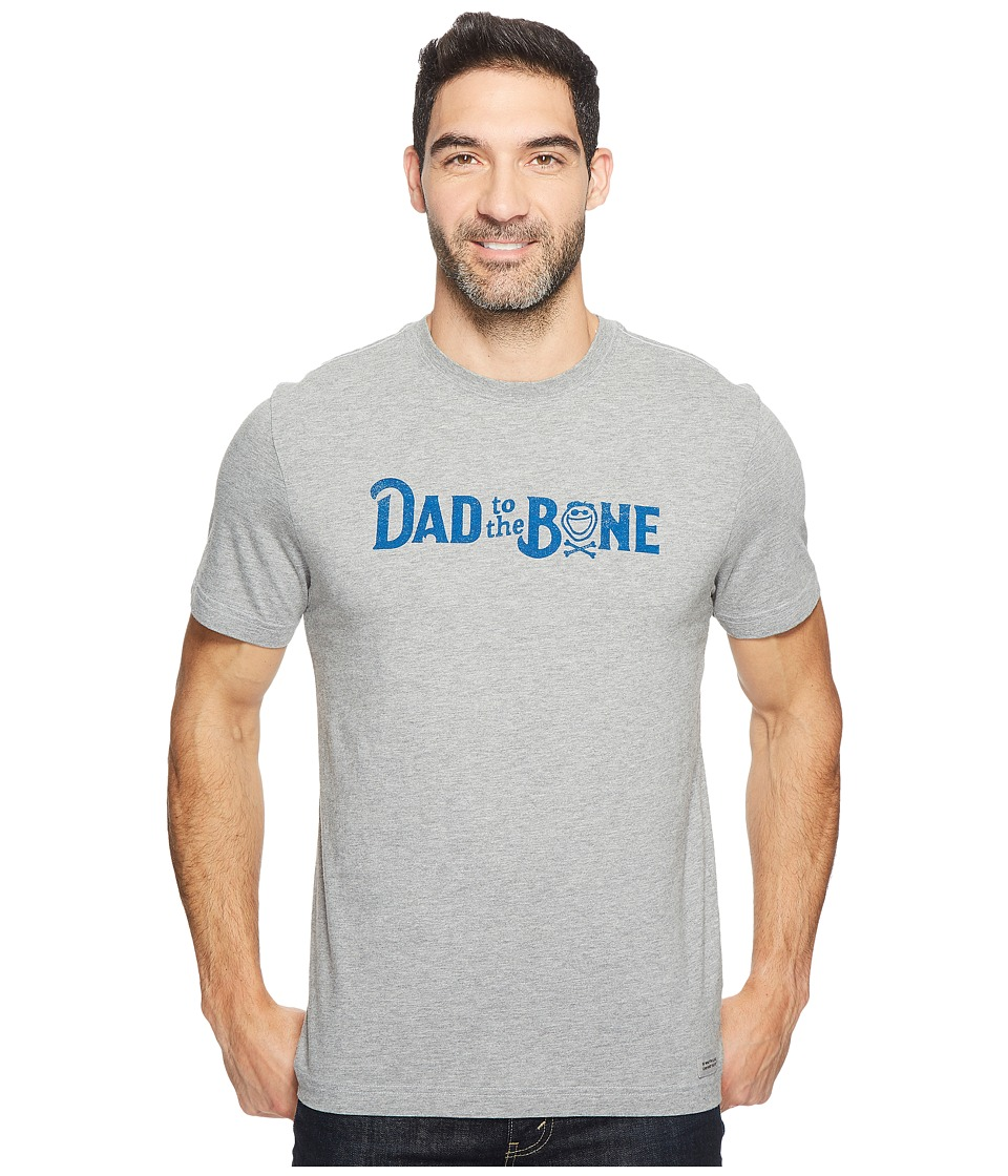 Life is good Dad to the Bone Crusher Tee (Heather Grey) Men